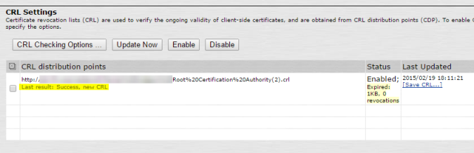 Screenshot showing the CDP URL was successfully imported once I HTML encoded the spaces in the URL.